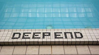 stock-footage-deep-end-deep-end-of-the-pool-a-good-visual-metaphor-to-show-madness-for
